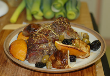 Boneless lamb roast