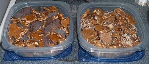 Almond Roca and Coffee Walnut Toffee