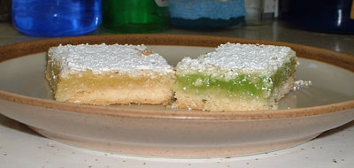 Lemon and lime bars