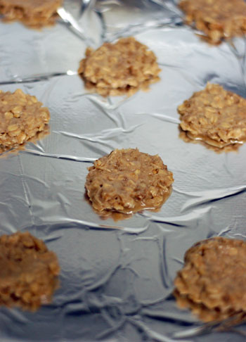 Oatmeal wafers ready for the oven