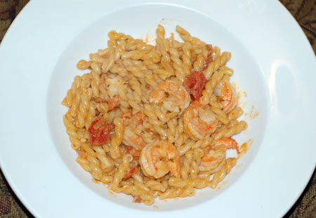 Gemelli with Shrimp and Tomato Cream