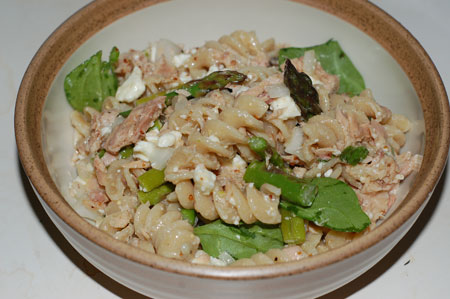 Tuna Pasta Salad with Asparagus and Feta