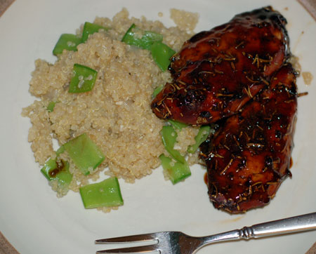 Balsamic glazed chicken and quinoa