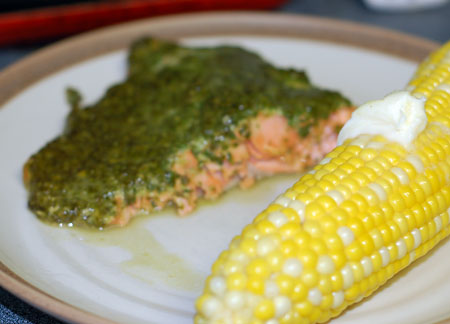 Pesto salmon