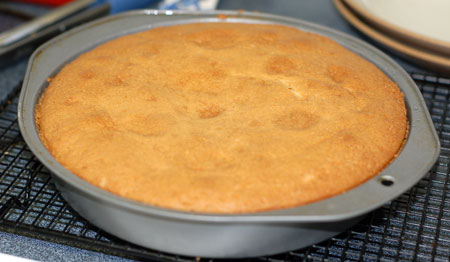 Apricot almond downside-up cake