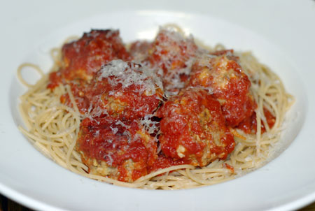 Pork, veal and ricotta meatballs