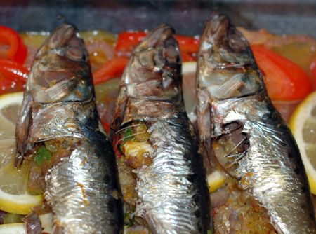 Stuffed Sardines with Pepperonata