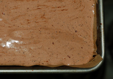 Chocolate genoise batter