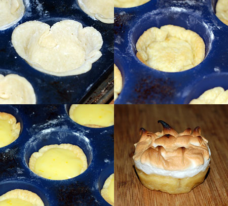 Lemon meringue cup-pies