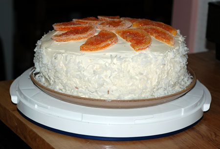 Finished creamsicle cake