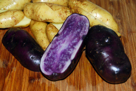 The Persnickety Palate » Purple Peas and Purple Potatoes