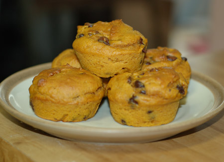 Double-Pumpkin Muffins