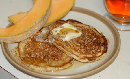 Praline Ricotta Pancakes