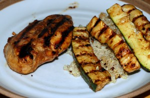 Hoisin-Ponzu Grilled Chicken and Zucchini