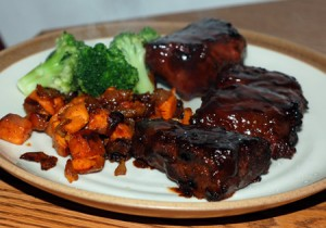 Grilled Ribs and Sauteed Sweets
