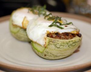 Thai Stuffed Zucchinis