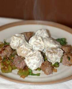 Lamb Dumplings with Yogurt Sauce