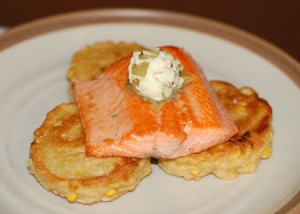 Salmon with Pickle Butter