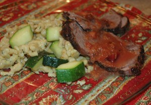 Rhubarb-Beet Pot Roast