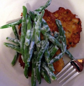 Veggie Fritters with Quick Curried Shrimp